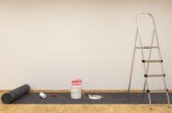 Красить стену Стоковая Фотография RF