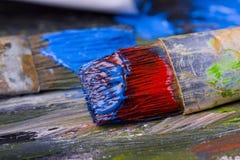 красить щеток Стоковое Изображение