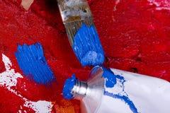 красить щеток Стоковая Фотография