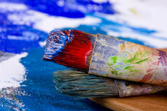 красить щеток стоковое фото rf