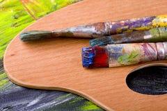 красить щеток Стоковые Фото