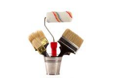 красить щеток Стоковое Фото