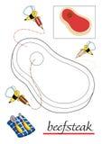 красить 10 детей книги иллюстрация вектора