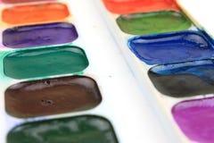 красит акварель палитры стоковая фотография