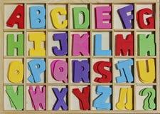 Красит алфавит Стоковые Фото