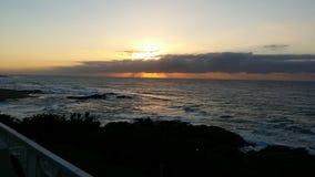 красит восход солнца моря фото темноты горизонтальный естественный Стоковая Фотография