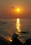 красит восход солнца моря фото темноты горизонтальный естественный стоковые изображения