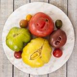 красит желтый цвет томатов heirloom красный Стоковое фото RF