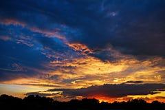 красит заход солнца живой Стоковые Изображения