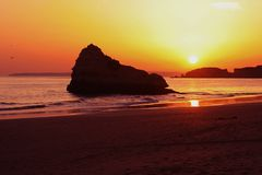 красит заход солнца Стоковое Изображение