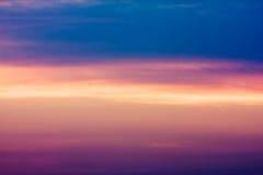 красит заход солнца Стоковая Фотография