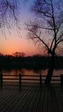 красит заход солнца Стоковые Фотографии RF