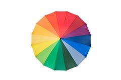 красит зонтик радуги Стоковое Изображение
