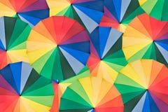 красит зонтик радуги Стоковое фото RF