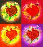 красит изображение сердца различным Стоковое Фото