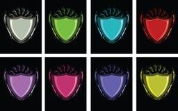красит несколько векторов экрана Стоковое Изображение