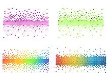 красит пиксел различным Стоковое фото RF