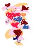 красит сердца различным Стоковые Изображения