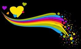 красит сердца Стоковые Фотографии RF
