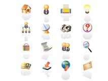 красит сеть иконы set1 Стоковые Изображения