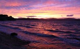 красит сильный заход солнца Стоковое фото RF