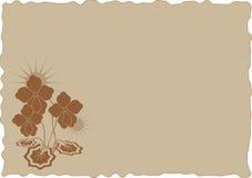 красит старый бумажный лист картины Стоковые Изображения