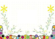 Красит флористическую поздравительную открытку предпосылки для детей Стоковая Фотография RF