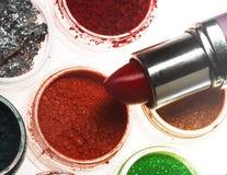 красит eyeshadows косметик различные профессиональным стоковые фото
