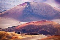 красит haleakala кратера Стоковая Фотография