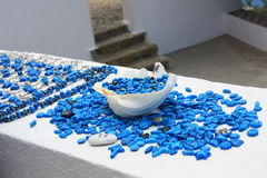 красит santorini стоковая фотография rf