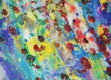 Краска акварели фосфоресцентного красного золота пастельная яркая, красочные оттенки Стоковое Изображение