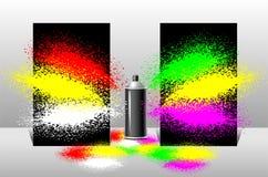 Краска брызга влияния иллюстрация вектора