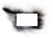 Краска брызга на белизне Стоковые Изображения RF