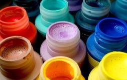 краска бутылок стоковая фотография