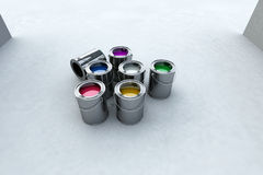 краска ведра Стоковая Фотография RF