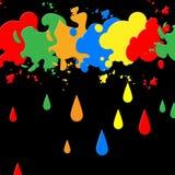 Краска выплеска представляет предпосылки и нашлепку помарками Стоковая Фотография RF