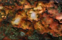 Краска запятнанная ржавчиной облупленная Стоковое Фото
