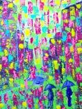 Краска искусства абстрактная с акриловыми цветами бесплатная иллюстрация
