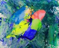 Краска искусства абстрактная Стоковые Фото