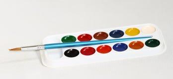 Краска и щетка Стоковая Фотография RF
