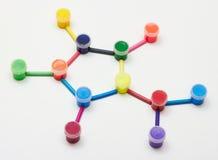 Краска и crayons Стоковые Фотографии RF