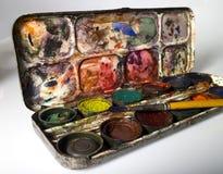 краска коробки старая стоковые изображения