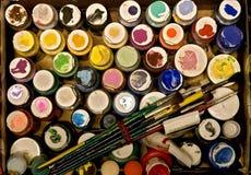 краска коробки Стоковая Фотография RF