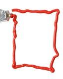 краска масла рамки Стоковое фото RF