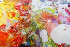 Краска масла абстрактной цветовой палитры акриловая Абстрактное искусство Paintin Стоковые Изображения RF
