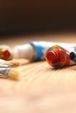 Краска масла и щетки b Стоковое Фото