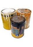 краска металла чонсервных банк Стоковые Изображения RF