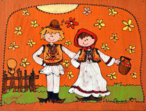 Краска на деревянной предпосылке стоковые фотографии rf