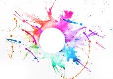 Краска на листе бумаги Стоковое Фото