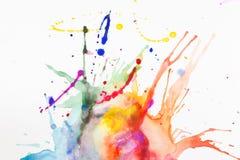 Краска на листе бумаги Стоковая Фотография